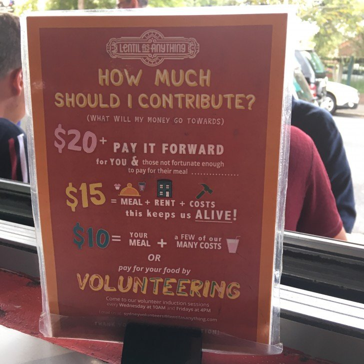 Lentil as Anything : 値段設定のないボランティアのお店