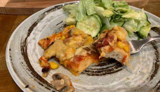 【簡単レシピ】混ぜるだけのパン生地でピザパンを作ってみた!