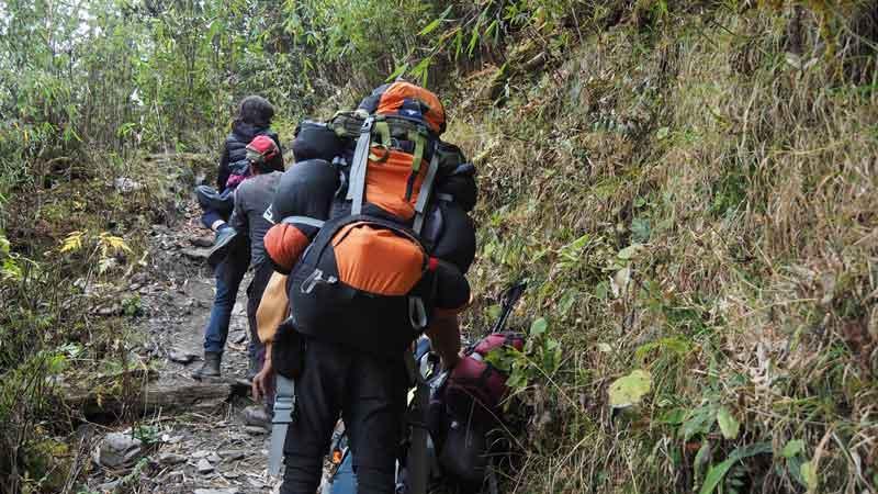 【ネパール】子連れでアナプルナベースキャンプトレッキング③:地獄の8時間登山!