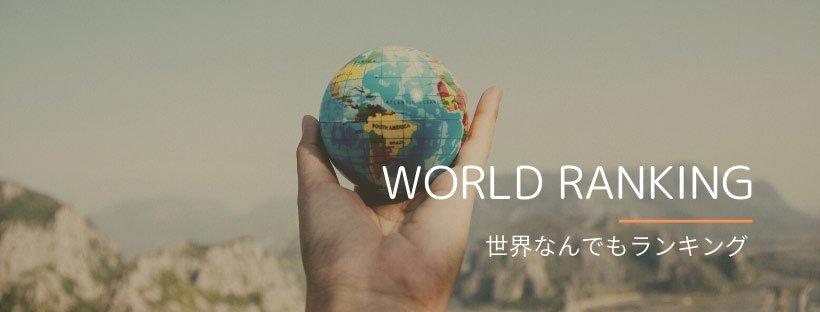 おもしろ世界ランキングのカテゴリー